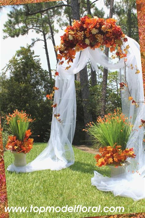 Wedding Arch Arrangement With Tulle by Simple Ways To Decorate Wedding Arch Fall Wedding Arch