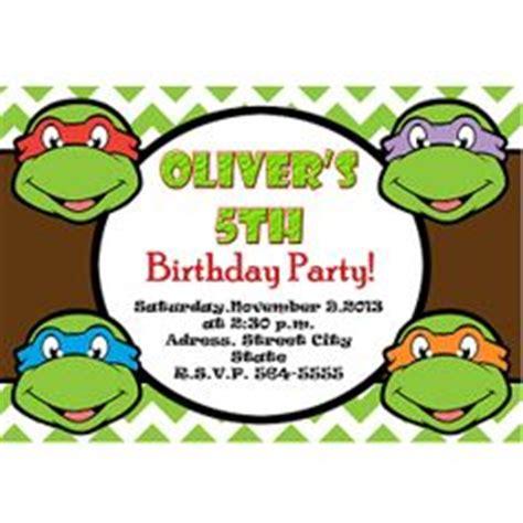 printable ninja turtle invitation template ninja turtles birthday invitations template best