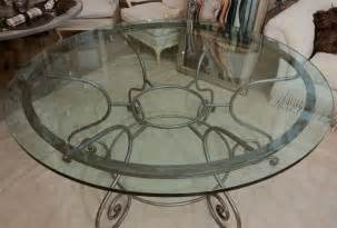 Wrought Iron Glass Top Dining Table Glass Top Dining Table With Attractive Wrought Iron Base At 1stdibs