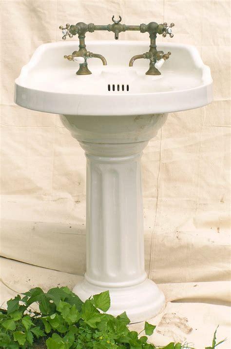 vintage antique pedestal sink vintage pedestal sinks remodelista