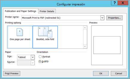 How To Make A 8 Page Book Out Of Paper - configurar e imprimir un folleto con tama 241 o de letra o un