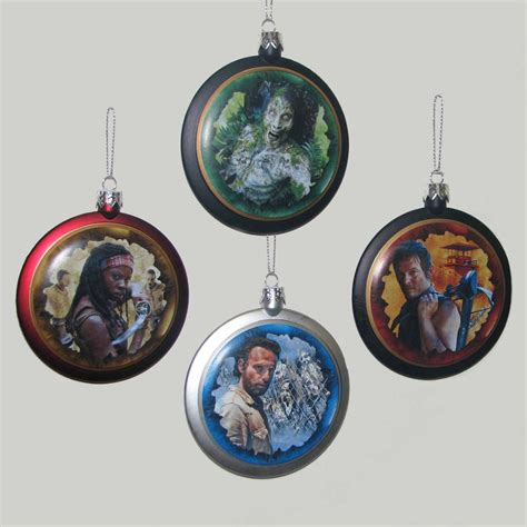deck your halls with the walking dead holiday ornaments