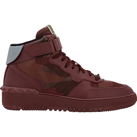 valentino sneakers mens lyst valentino rockstud leather high top sneakers in