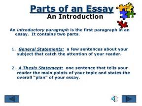 Part Of Essay Writing by Parts Of An Essay