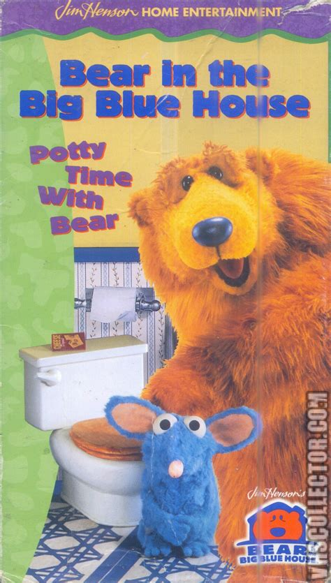 the big blue house bear in the big blue house potty time with bear vhscollector com your analog