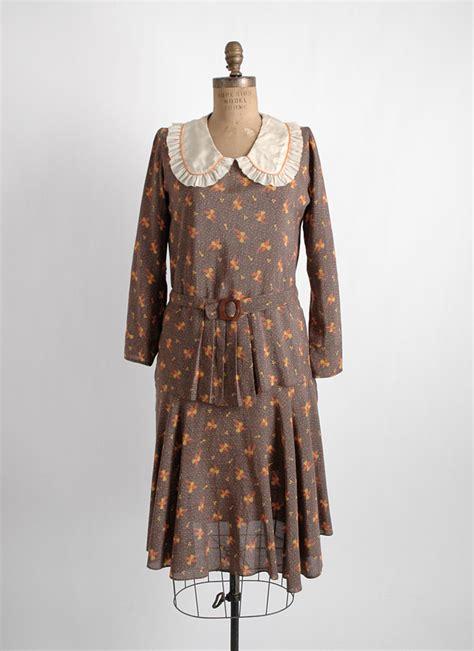 1920s 30s unworn mint printed silky dress hemlock