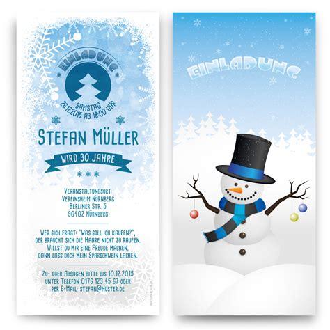 Word Vorlage Winter einladungen schneemann weihnachten silvester winter