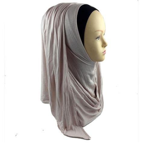 Instant Najwa Jersey Mix Chiffon jersey instant shawl slip on shawls plain amira