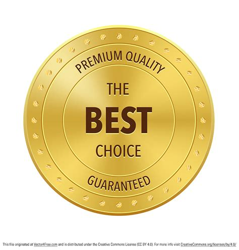 best free vector free best choice award vector