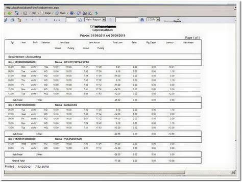 format laporan absensi pegawai software absensi online absensi web based sidik jari