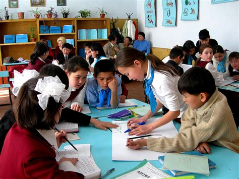 Free Picture Children School Turkestan City Participating National Reading Day Images Of Children At School