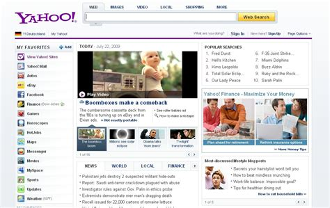 www yahoo search news homepage yahoo to unveil redesign blogoscoped forum