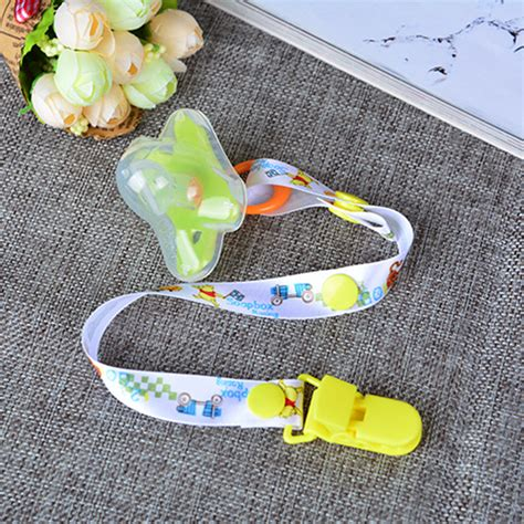 Promo Empeng Dodo Soother With Holder 2016 baby pacifier leash clip chain ribbon dummy holder chupetas soother pacifiers