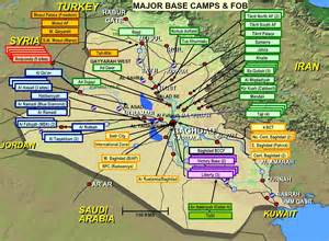 army bases map iraq facilities maps