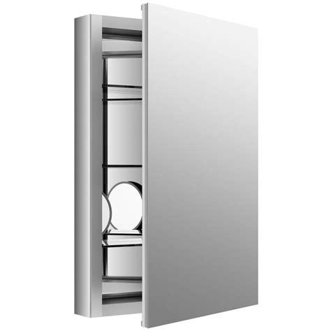 kohler aluminum frame medicine cabinets kohler verdera 20 in w x 30 in h recessed medicine