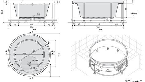 vasche da bagno rotonde sun 160 172 200 vasca da bagno rotonda