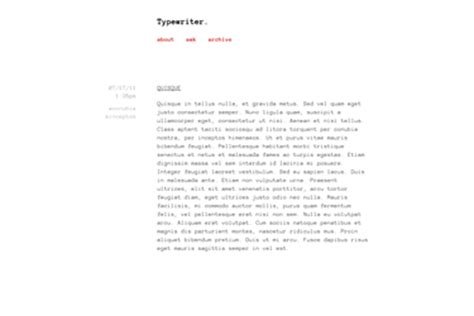 themes tumblr for text posts typewriter
