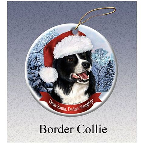 border collie ornaments border collie howliday ornament
