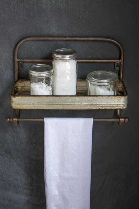 towel holder shelf farmhouse metal shelf and towel rack vintage style metal