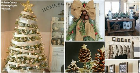 christmas home decor crafts 40 rustic christmas decor ideas you can build yourself