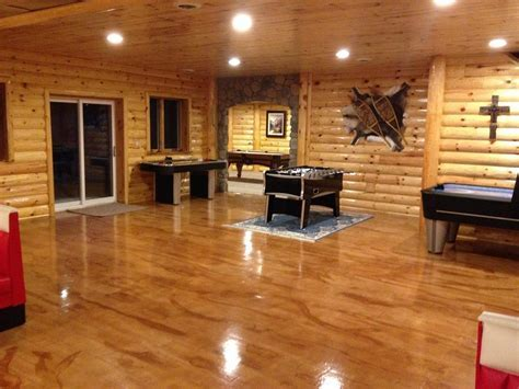 Concrete Wood Basement Floor   Frankenmuth MI