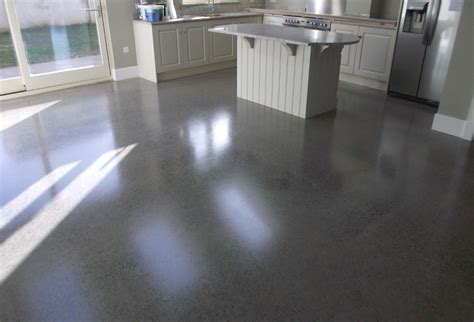 Polished concrete floor   polished to a platinum finish