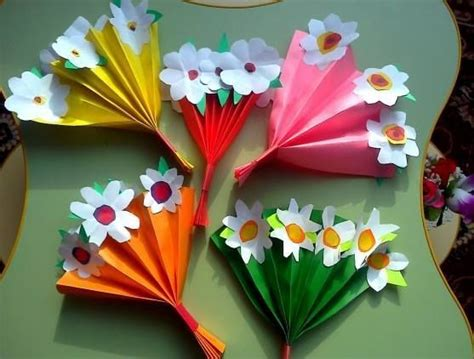 How To Make Paper Fan Flowers - bloemen bouquets and paper bouquet on
