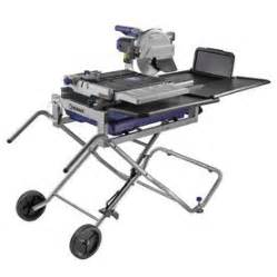 shop kobalt 10 in sliding table tile saw with stand at