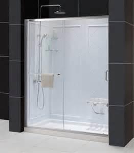 infinity z frameless sliding shower door 32x60 shower