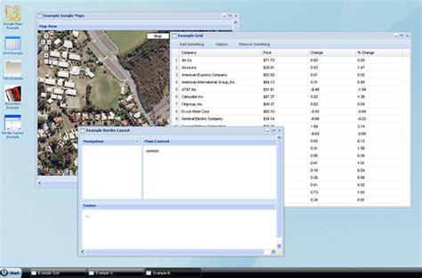 javascript desktop layout jquery desktop ui extjs web interface portal