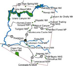 arizona national parks and monuments map directions organ pipe cactus national monument u s