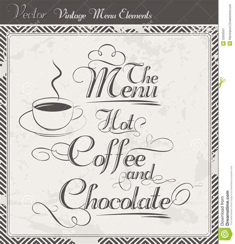 Menu Coffee Toffee Sukabumi vintage vector coffee an chocolate menu stock image