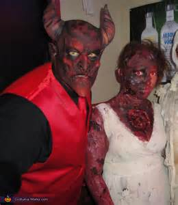 devil  burning soul couple costume