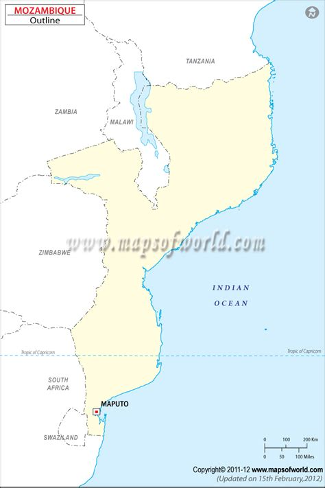 blank map  mozambique mozambique outline map