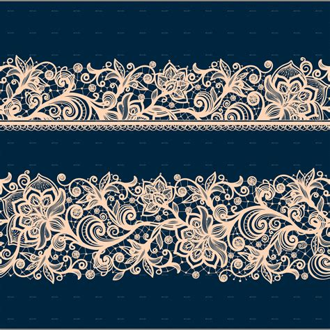 lace pattern color seamless lace pattern with decorative flowers by vikpit