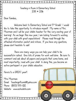 Parent Letter Day Of School back to school letters for parents by teaching in room 6 tpt