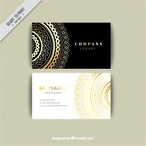 business card template freepik luxurious business card template vector free