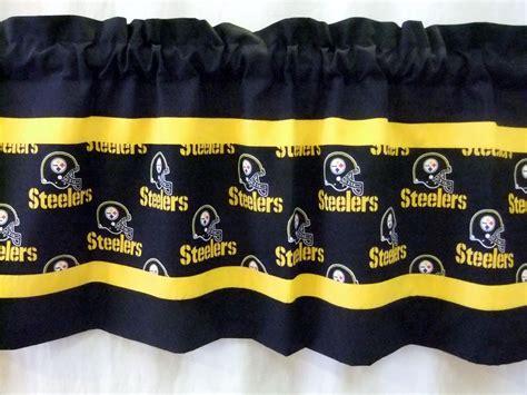 steelers curtain pittsburgh steelers nfl football valance black gold black