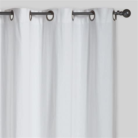 white curtain panels white parker grommet top curtains set of 2 world market