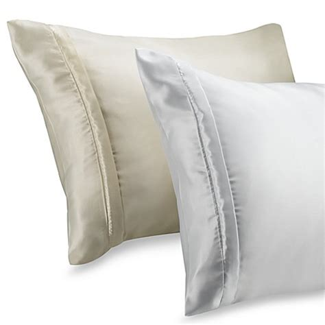 silk pillow cases bed bath beyond buy satin pillow covers from bed bath beyond