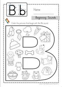 beginning sounds worksheets kindergarten free printable