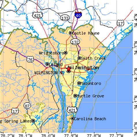 wilmington nc map map of wilmington carolina afputra