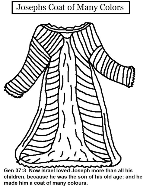coats of many colors coat of many colors coloring sheet week 6 joseph s