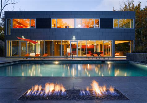 Impressive gel fuel fireplace in Pool Industrial with Corner Gas Fireplace next to Semi Inground