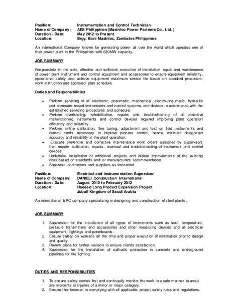 Controls Technician Description by Controls Technician Description Quality Technician Description Recruiting J