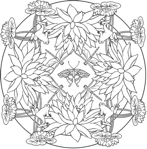 nature mandala coloring books nature mandala coloring pages coloring pages