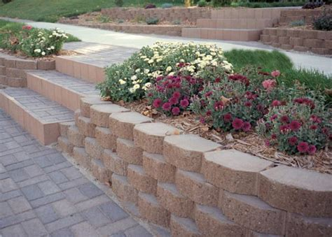 concrete blocks for garden walls miscellaneous retaining wall blocks landscaping ideas