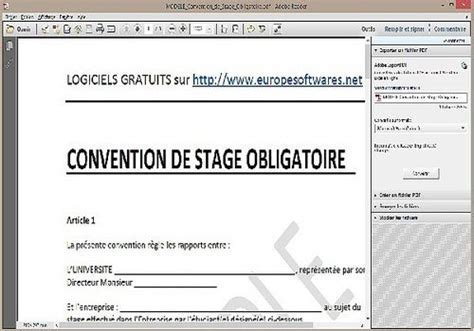 Télécharger Modèle de Convention de Stage Obligatoire pour windows   Freeware