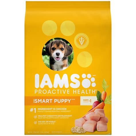 puppy food vs food iams proactive health smart puppy original food 15 lb bag chewy