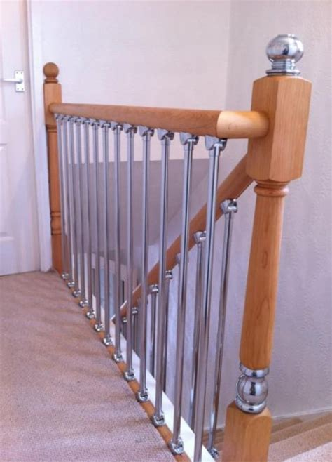 Replacement Banister Axxys Chrome Landing Refurbishment Kit 2400mm Pine Axxys
